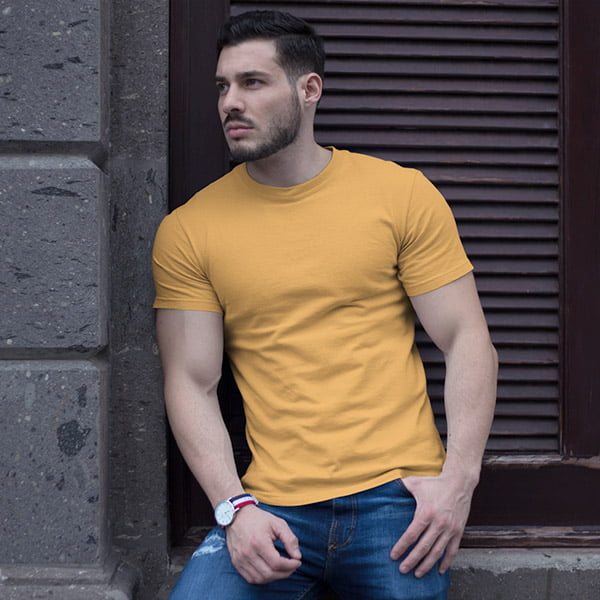 Mustered Plain Tshirt Men by My Style Bag