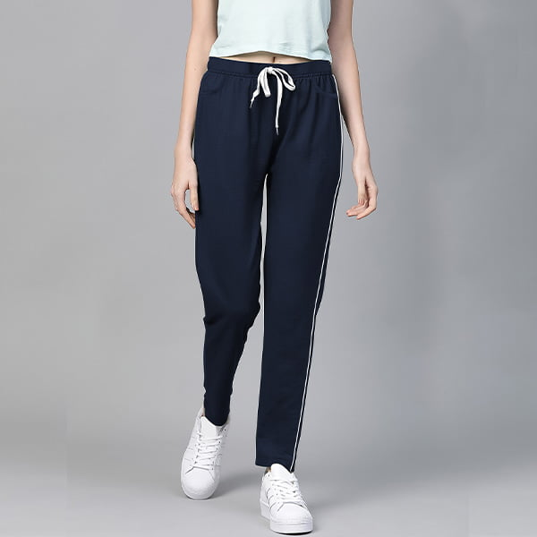 Navy Blue Plain Women Sweatpant Lower by My Style Bag